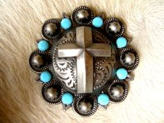 4 BERRY CRYSTALS CROSS Bling CONCHOS Horse SADDLE HEADSTALL TURQUOISE AQUA