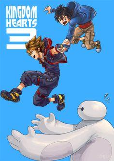 So looking forward to seeing Baymax in Kingdom Hearts 3 :) Kingdom Hearts 3, Kingdom Hearts Wallpaper, Kingdom 3, Baymax, Big Hero 6, Final Fantasy, Shadow Sonic, Kh 3, Fandoms