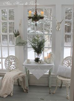 [Sun rooms are extra welcome in the winter (assuming they're reasonably well insulated), because the light flooding in helps with winter depression. And if there's snow on the ground, you get the extra benefit of the light reflecting off the snow.]