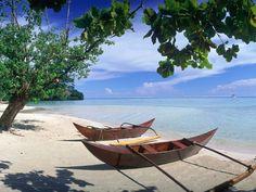 Tahitian boats.
