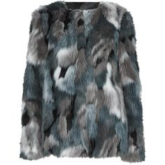 M&S Collection Faux Fur Patchwork Overcoat (4.775 RUB) ❤ liked on Polyvore featuring outerwear, coats, fur coat, jackets, double breasted coat, fur-lined coats, double breasted overcoat, over coat and fake fur lined coats