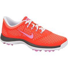 Nike Ladies Lunar Empress Golf Shoes - Laser Crimson/Red Violet/Hot Punch Lori's Golf Shoppe