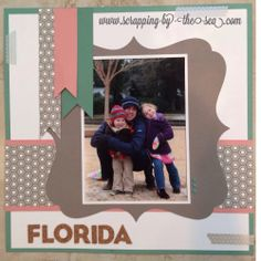 Close to My Heart- Florida Snow Day Layout