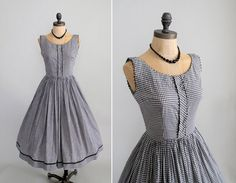 1950s 1960s Mad Men dress
