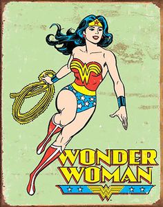 Buy Wonder Woman - Retro Tin Sign online and save! DC Comics: Wonder Woman – Retro Tin Sign Add some retro comic book charm to your house or office space with this vintage tin sign!