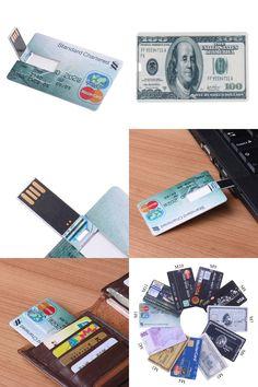 [Visit to Buy] USB Flash Credit Card 16GB 32GB USB Flash Drive Pen Drive 32GB 64GB Pendrive 4GB 8GB Memory External Storage USB 2.0 Flash Card #Advertisement