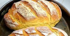 Υλικά  400 gr. αλεύρι για όλες τις χρήσεις  4 gr. μαγιά ξηρή  Νερό χλιαρό  1 κουταλάκι του γλυκού ζάχαρη  1 κουταλάκι του ... Greek Bread, Kitchen Sets, Pastries, Bread Recipes, Breads, Food And Drink, Homemade, Cooking, Easy