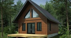 Mont-Blanc '- Patriot houses and cottagesPatriote houses and chalets Cabin House Plans, Tiny House Cabin, Log Cabin Homes, New House Plans, Log Cabins, 1000 Sq Ft House, Plan Chalet, House Roof Design, Cabin Loft