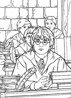 Harry Potter And The Chamber Of Secrets Coloring Pages 17