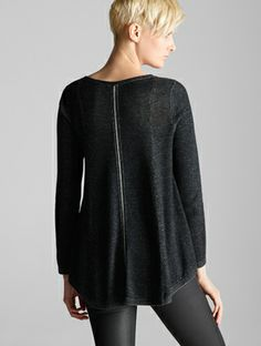 EILEEN FISHER: Winter Looks We Love.  Try the SW pattern I have, but place zipper straight down the middle instead of on the diagonal.
