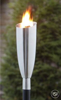 Outdoor cone torches lighting fireplace stainless steel garden create a focal point in your patio area with the nestor brushed stainless steel garden torch workwithnaturefo