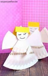 Easy Paper Angel Craft - Mer Mag Christmas Angel Crafts, Paper Angel, Tableware, Easy, Dinnerware, Dishes