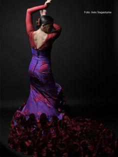 Gonna da donna per praticare danza fenicottero o sevillane Made in Spain