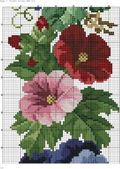 ru / Фото - a - kento ems 016 Cross Stitch Needles, Cross Stitch Rose, Cross Stitch Borders, Cross Stitch Flowers, Cross Stitching, Cross Stitch Patterns, Embroidery Patterns Free, Needlepoint Patterns, Beading Patterns