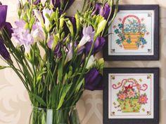 Flower baskets | Free Chart | Cross Stitching