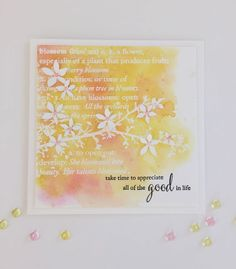 Blossom Card  by Donnaby the Memory Box Design Team