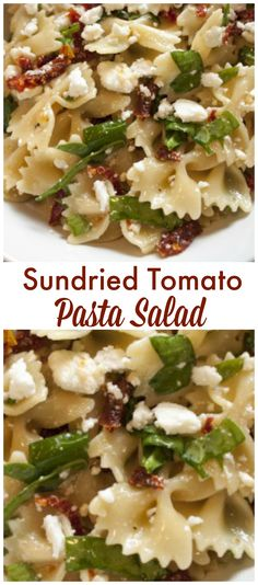 Sundried Tomato Pasta Salad is a light pasta salad that will be great to take to have summer get together. It has the great flavors of feta and spinach.