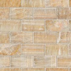 Honey Onyx 2x4x8mm Subway Tile In 12x12 Mesh
