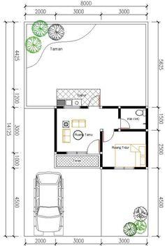 Contoh Sketsa Ruang Rumah Type