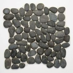 pebble shower floor :) Anatolia Honed Black Sea 12 in. x 12 in. Stone Pebble Mosaic Floor & Wall Tile (10 Sq. Ft./Case)-5002su at The Home Depot