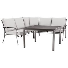 Buy John Lewis Henley by KETTLER Henley Corner Sofa & Table Set Online at johnlewis.com