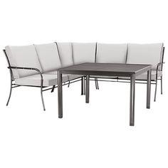 Gartenmöbel Set Aluminium Polywood Braun 8 Sitzer NARDO | Garden Furniture  And Gardens