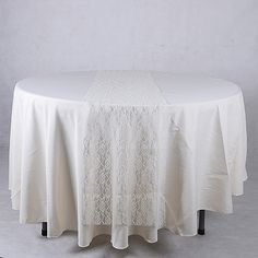 Lace Table Runners Ivory ( 14 inch x 108 inches ) - BBCrafts store has quality tulle fabrics, ribbons, wedding supplies, tablecloths and deco mesh at specialty wholesale prices. We reached 300000+ customers.