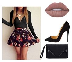 """""""Untitled #4"""" by nalonig ❤ liked on Polyvore featuring Christian Louboutin and Lime Crime"""