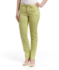 Look what I found on #zulily! Willow Lace-Print Mustang Sally Straight-Leg Jeans by LNO jeans #zulilyfinds