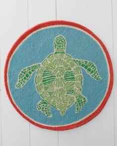 Lilly Pulitzer® Turtle Cove Hooked Wool Rug