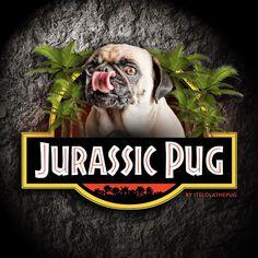 Rooaarrr ... The Jurassic Pug is here!