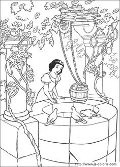 Princess Snow White And Witch Disney Coloring Page Sheets Cartoon Pages Free Online