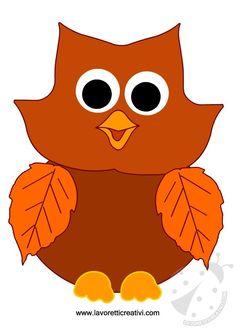 GUFO Sagome utili per realizzare un simpatico gufo di carta e foglie. Autumn Crafts, Fall Crafts For Kids, Autumn Art, Autumn Theme, Art For Kids, Christmas Crafts, Flower Crafts Kids, Owl Crafts, Letter E Craft