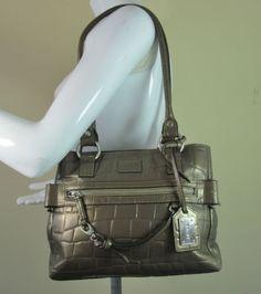 #Disser gold moc croc quality leather shoulder bag handbag purse R14706 #style #fashion #love #woman #chic #follow #eBay #handbag #sangriasuzie