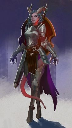 Female Character Design, Character Creation, Character Drawing, Character Design Inspiration, Character Concept, Character Ideas, Tiefling Paladin, Dnd Paladin, Tiefling Female