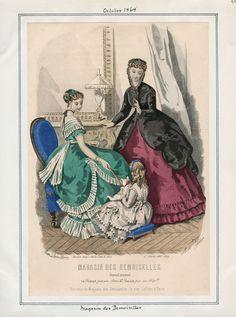 Casey Fashion Plates Detail | Los Angeles Public Library Magasin des Demoiselles Date:  Thursday, October 1, 1868