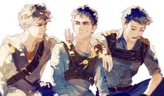Hey, Greenie! Newt, Thomas, Minho | Maze Runner ...