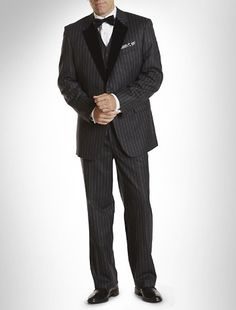 New style 1920s mens suit: Big and Tall Tallia Orange Formal 3-Pc Chalk Stripe Suit
