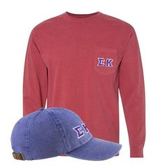 73840b251b404 Sorority Comfort Colors Printed Pocket Long-Sleeve and Hat Package   SomethingGreek  ComfortColors Sorority