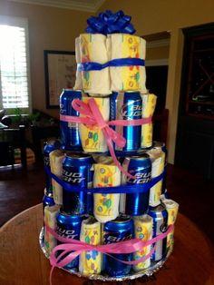 Bud Light.   31 Diaper Cake Ideas That Are Borderline Genius