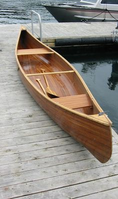 Custom Made Cedar Strip Canoe