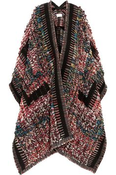Multicolored wool-blend bouclé-jacquard Slips on 54% wool, 46% acrylic Dry clean…