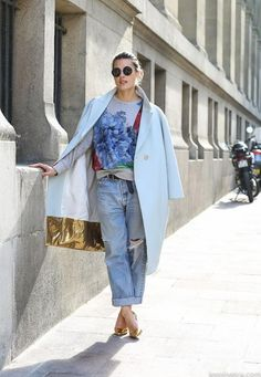 An oversized coat and boyfriend jeans are the perfect match.  Be inspired and shop here: http://rstyle.me/n/r4ve2bgbrf