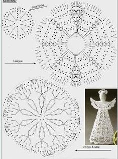 15 unique angel ornaments for kids that you'll love to take a look at Czekają na Ciebie nowe Piny: - PocztaHand made Crocheted Angels Crochet Angel Pattern, Crochet Angels, Vintage Crochet Patterns, Christmas Crochet Patterns, Crochet Ornaments, Crochet Snowflakes, Holiday Crochet, Christmas Knitting, Crochet Amigurumi