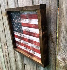 Americana decor wood sign framed wooden american flag sign f Framed American Flag, American Flag Pallet, American Flag Decor, 4th Of July Decorations, Lawn Decorations, Wood Flag, Flag Signs, Diy Wood Projects, Wood Crafts