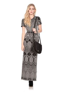 Work monochrome into your everyday look and hire the Abbey knit Maxi by MW Matthew Williamson. The light knit fabric will keep you cool and cosy throughout the day. Hire it here: http://www.wishwantwear.com/dress-hire/mw-matthew-williamson/1037-abbey-knit-maxi.html