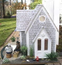 New England Miniatures Blog: Amos's Cottage - exterior