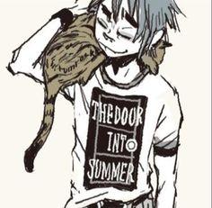 T-shirt of SF by rumrock 2d And Noodle, Heavy Metal, Gorillaz Fan Art, Damon Albarn, Jamie Hewlett, Image Manga, Tank Girl, Film Serie, Love Is Free