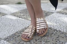 Hand made leather sandals, Ancient sandals, Rose gold sandals, Greek sandals, Women sandals,Black sandals.NY leather stories