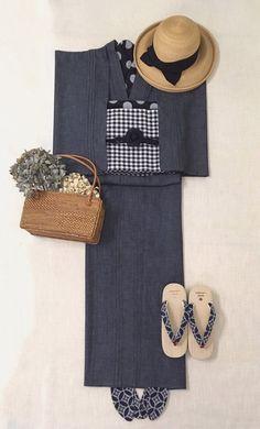 ゴフクヤサン・ドットコム 居内商店 さく研究所 Traditional Japanese Kimono, Modern Kimono, Modernisme, Yukata Kimono, Kimono Design, Japanese Costume, Cool Outfits, Fashion Outfits, Japanese Outfits
